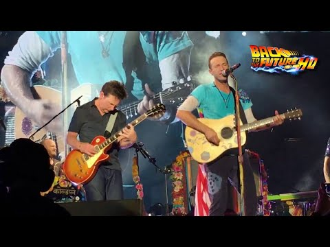 Michael J Fox on lead guitar for Johnny B Goode with Coldplay!