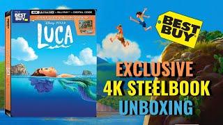 Disney Pixar Luca Best Buy Exclusive 4K Ultra HD Blu-ray Steelbook Unboxing