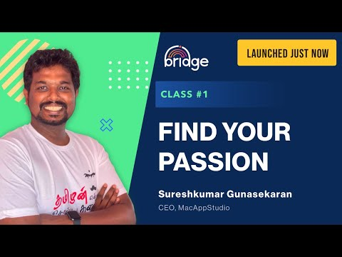Class #1 : Find Your Passion - Where to Start? How to Start? How to Get a Job or be an Entrepreneur