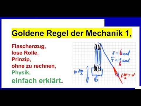 goldene regel der mechanik 1 flaschenzug lose rolle. Black Bedroom Furniture Sets. Home Design Ideas