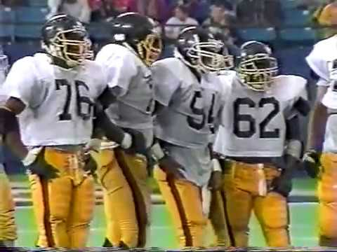 1989 Muskegon Big Reds vs Detroit Martin Luther King (Class A State Championship) TV Part 3