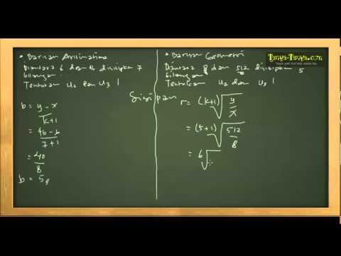 Belajar Matematika : Materi dan Contoh Soal Barisan & Deret