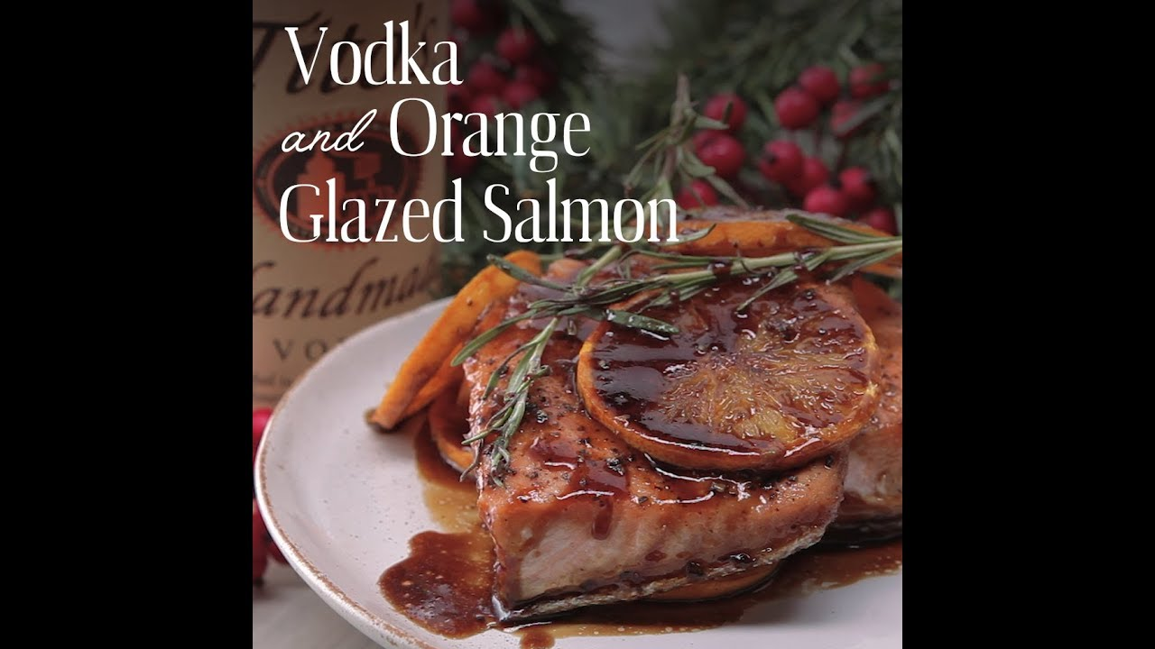 vodka and clementine glazed salmon easy healthy homemade dinner