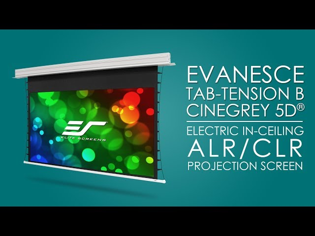 Elite Screens Evanesce Tab-Tension B CineGrey 5D® Electric In-Ceiling ALR/CLR® Projection Screen