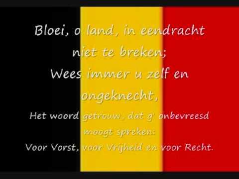 Belgisch volkslied  De Brabançonne lyrics