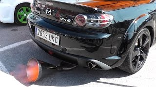 Most crazy MAZDA Rx8 SOUND  /TUNED car with 3 EXHAUST PIPES for Competition! thumbnail