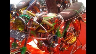 Modifikasi Honda GL 100 Racing Look Kontes Full Airbrush