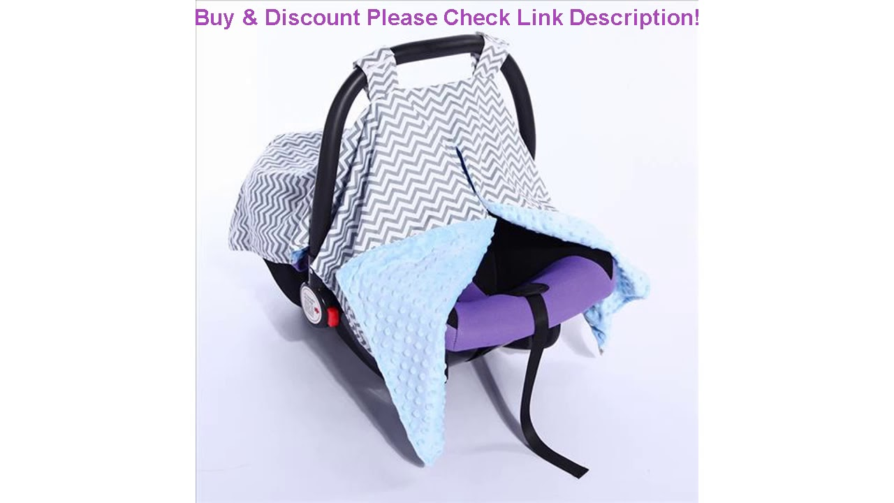 Review Fashion Baby Car Seat Accessories Canopy For Outing Cotton Infant Basket Cover Safety