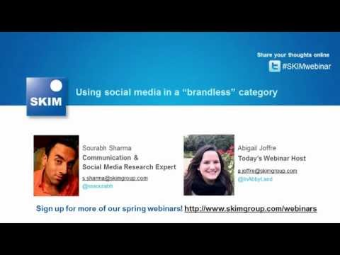 Webcast: Using social media in a 'brandless' category
