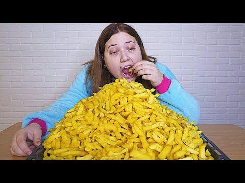 Я съела 1000 картошек фри за один присест