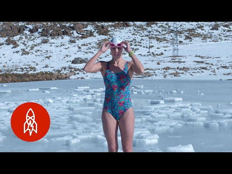 These Ice Swimmers Battle Frozen Death with Every Stroke | That's Amazing
