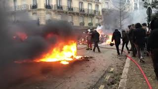 Paris, the capital of France, is burning