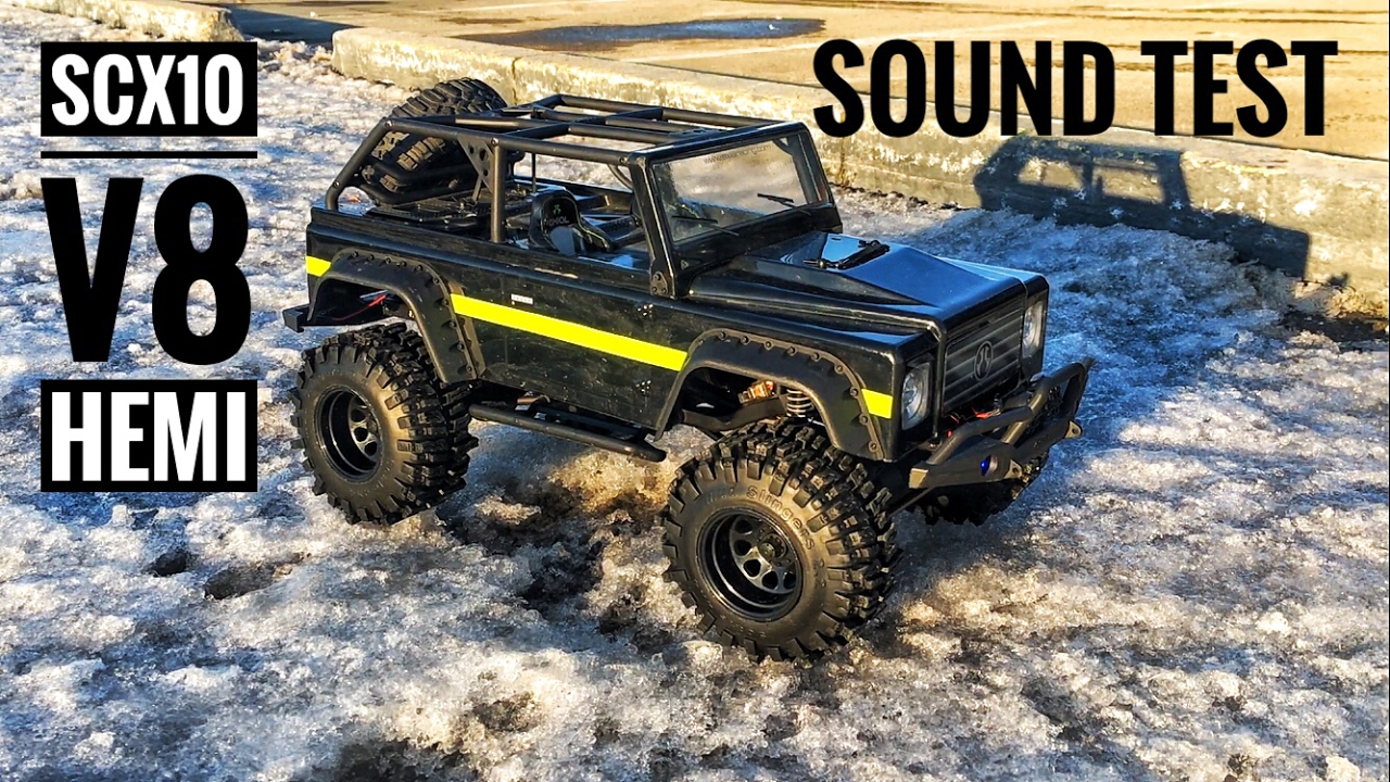 v8 sound test ess tt module on rc axial scx 10 youtube. Black Bedroom Furniture Sets. Home Design Ideas