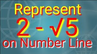 Represent 2 - √5 on the number line