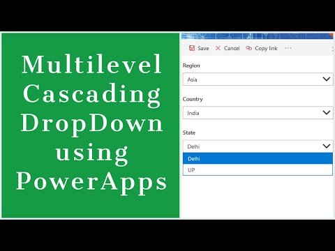 Create Multilevel Cascading DropDown Using PowerApps In SharePoint Online