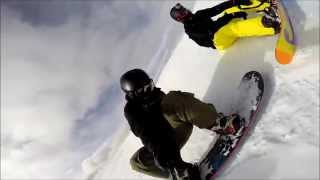 Snowboarding Breckenridge Peak 8 Imperial Bowl to Northstar