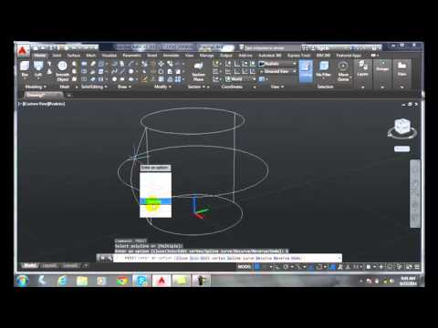 3D Modeling 07-11 Controlling the Loft with a Guide Curve