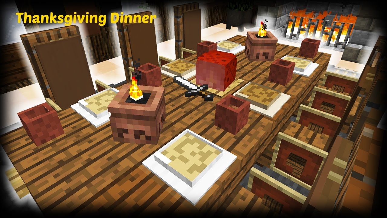 minecraft kitchen furniture minecraft how to make a thanksgiving dinner 14200