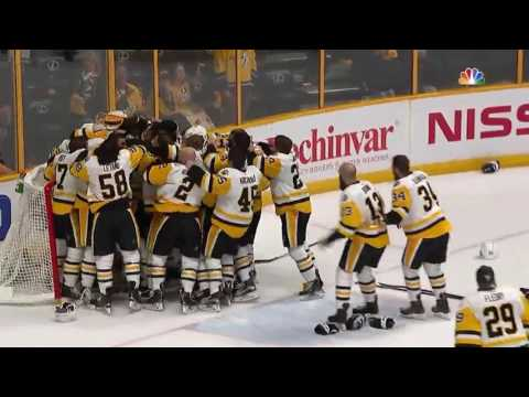 The Penguins Win the 2017 NHL Stanley Cup Finals. Final Seconds of Game 6. (HD)