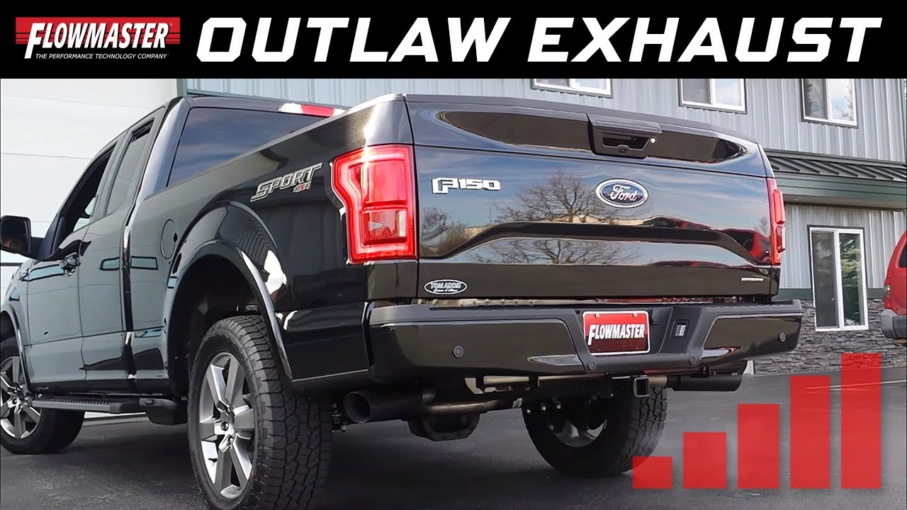 Flowmaster Exhaust F150 >> Flowmaster Outlaw Cat-back Exhaust System - 2015-2018 Ford F150 Trucks (all engines) - 817726 ...