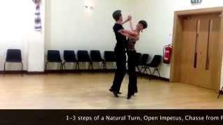 Intermediate Slow Waltz routine - Inspiration 2 Dance London