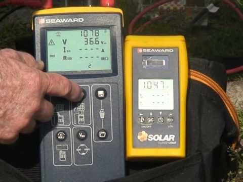 Seaward PV150 napelem vizsgáló műszer a gyakorlatban