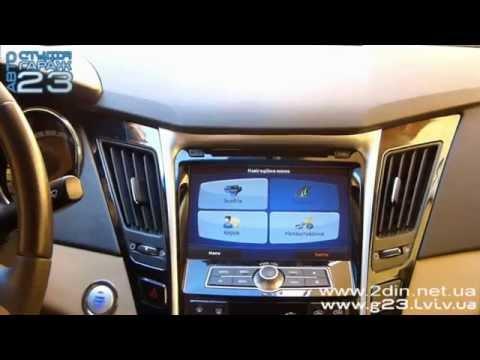 Штатная магнитола для Hyundai Sonata 2010-2014 - Flyaudio E7562NAVI. Прошивка GPS навигации
