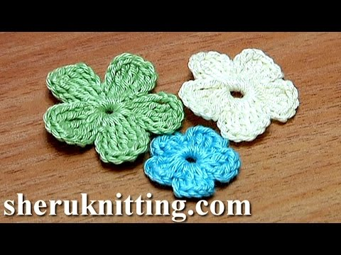 Crochet small flat five petal flower tutorial 26 part 2 of 2 crochet small flat five petal flower tutorial 26 part 2 of 2 dt1010fo