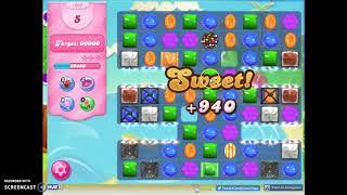Candy Crush Level 1633 Audio Talkthrough, 2 Stars 0 Boosters