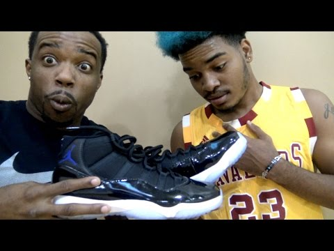 1 VS 1 SUBSCRIBER! EARLY AIR JORDAN 11's SPACE JAMS WAGER! (While Injured)