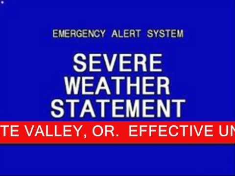 Emergency Alert System - Winter Storm Warning - YouTube