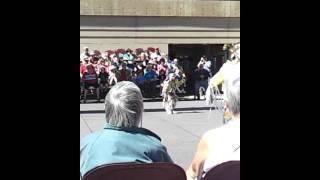 Blackfoot dancers at Head Smashed In Buffalo Jump