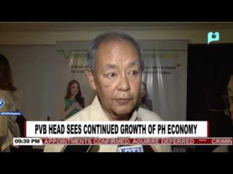 Philippine Veterans Bank head sees continued growth of PH ec