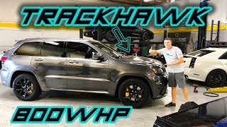 Take a ride in a 800WHP Jeep Trackhawk!! ITS FAST!!!