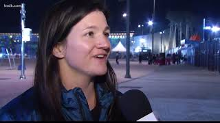 Rene speaks with veteran snowboarder Kelly Clark