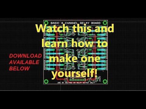 Basic 8 Channel Relay Board Design Eagle Tutorial - YouTube