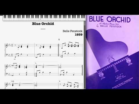 Blue Orchid by Belle Fenstock (1939, Jazz piano)