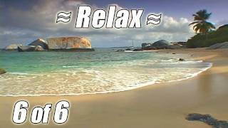 #1 RELAXING Wave Sounds #6 CARIBBEAN BEACHES Beach Nature Meditation ocean study to No Music