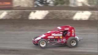 USAC/CRA 410 Sprint Car Wheelie Contest at Santa Maria Speedway, August, 2012!!!
