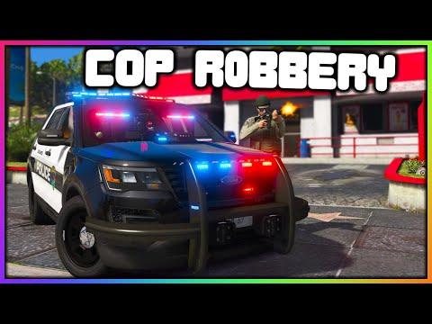GTA 5 Roleplay - FAKE COP ROBBING STORES | RedlineRP
