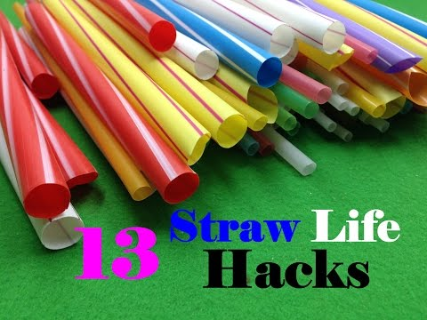 Thumbnail: 13 Life Hacks with Drinking Straw
