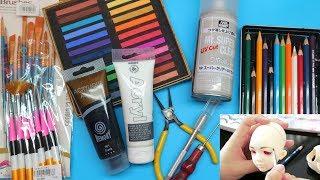 VẼ MẶT CHO BÚP BÊ CẦN NHỮNG GÌ? Giới thiệu những dụng cụ cần thiết để vẽ mặt cho búp bê / Ami DIY