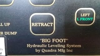 Bigfoot Auto Hydraulic Leveling System for RV's - programming and operation of levelers