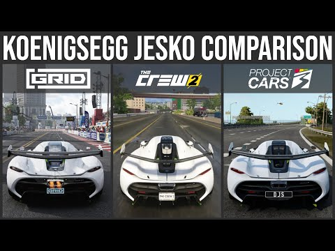 Koenigsegg Jesko Sound and Graphic Comparison - Project Cars 3 vs The Crew 2 vs Grid 2019