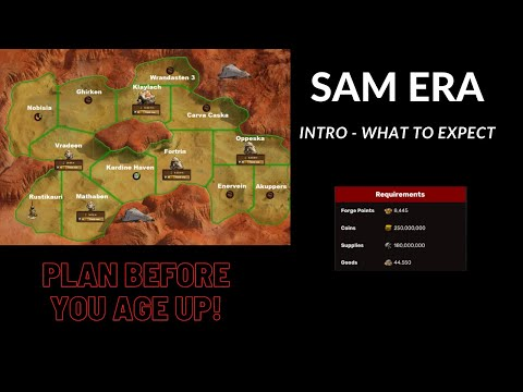 Forge of Empires  Space Age Mars Intro SAM Era What to Expect - Goods Mars Ore and Mars Settlement