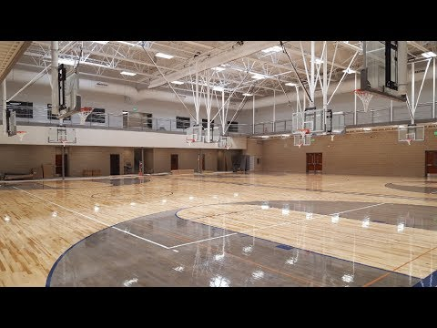 South Jordan Middle School gymnasium floor installation. (3 of 3)