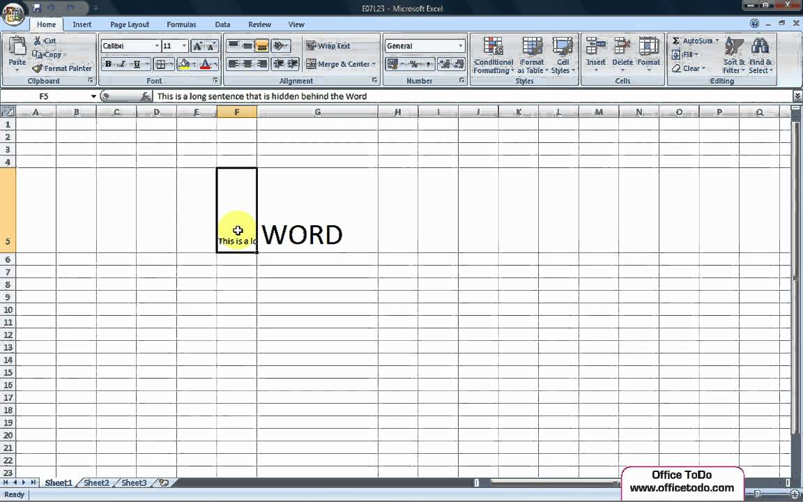 Drawing Lines Excel : Excel how to make all text visible in the cell by