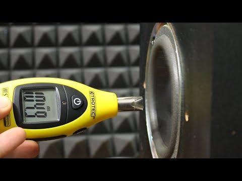 Creative Inspire t6100 speaker sound/bass dB test