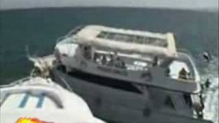 two boats crash