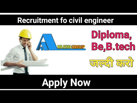 Amlesh Group Recruitment For | Civil Engineers Jobs Fraser, Experience | Diploma |  2019-20